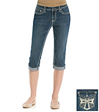 Earl Jeans Illuminating Cross Denim Capri