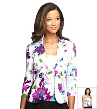 Alex Evenings Printed Notch Collar Twinset