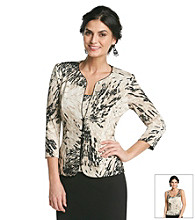 Alex Evenings Printed Sparkle Twinset