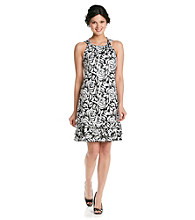 MSK Halter Dress With Tiered Hem