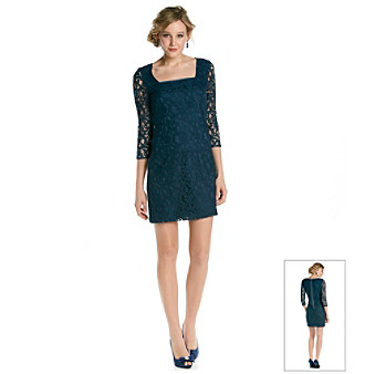 Adrianna Papell® Lace Overlay Shift Dress