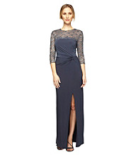 Alex Evenings® Illusion Lace Long Dress