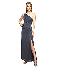 Alex Evenings® One Shoulder Jewel Detailed Formal Dress
