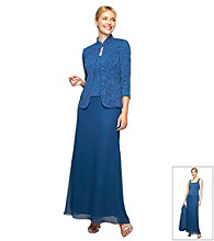 Alex Evenings® Long Dress With Mandarin Jacket