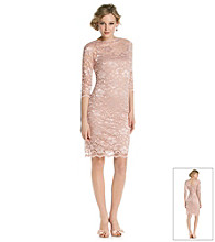 Marina Lace Boatneck Cocktail Dress