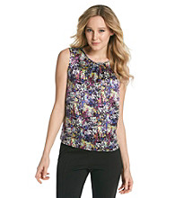 Tahari by Arthur S. Levine® Printed Ruched Neck Cami