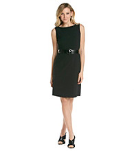 Tahari by Arthur S. Levine® Wide Buckle Sheath Dress