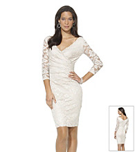 Lauren Ralph Lauren Antique Foiled-Lace Sheath Dress