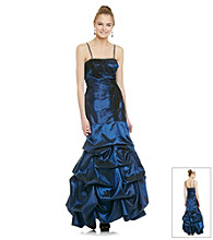 Jump® Juniors' Strapless Pick Up Ballgown