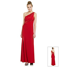 Hailey Logan Juniors' One-Shoulder Gown