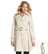 Laundry Single Breasted Belted Trench With Pleated Bottom