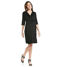 Three Seasons Maternity™ Dolman Surplice Solid Dress