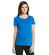 Three Seasons Maternity™ Solid Shirred Tee