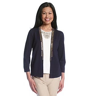 Alfred Dunner® Petites' Prince Street Layered-Look Top