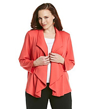 Fever™ Plus Size Ponte Jacket