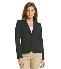 Calvin Klein Petites' Solid Long Sleeve Two Button Jacket