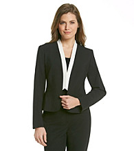 Calvin Klein Petite's Long Sleeve Open Front Jacket
