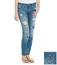 Hydraulic® Juniors' Destructed Bailey Ankle Skinny Jeans
