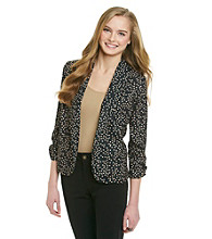 Eyeshadow® Juniors' Dot Relaxed Blazer