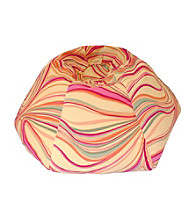 Gold Medal Lemon Suede Swirl Print Bean Bag