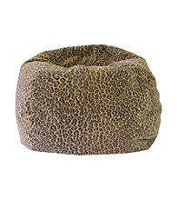 Gold Medal Animal Print Micro-Fiber Suede Bean Bag