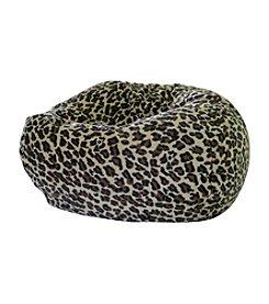 Gold Medal Leopard Print  Micro-Fiber Suede Bean Bag