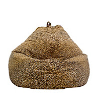 Gold Medal Large Jungle Cat Print Micro-Fiber Suede Bean Bag