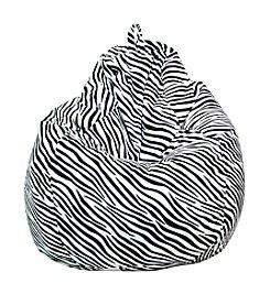 Gold Medal Large Zebra Print Micro-Fiber Suede Bean Bag