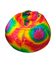 Gold Medal Tie Dye Denim Look Bean Bag with Cargo Pocket