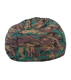 Gold Medal Camouflage Denim Look Bean Bag with Cargo Pocket