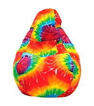 Gold Medal Tye Dye Demin Look Bean Bag with Pocket