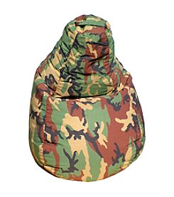 Gold Medal Camouflage Demin Look Bean Bag with Pocket