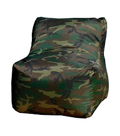 Gold Medal Small Camouflage Sectional  Bean Bag Chair