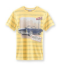 Ruff Hewn Boys' 8-20 Tawny Gold Short Sleeve Muscle Car Graphic Tee
