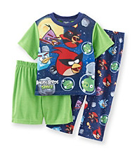Angry Birds™ Boys' 2T-4T Green/Blue 3-pc. Space Race Pajama Set