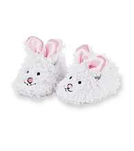 Cuddle Bear® Baby Girls' White Bunny Slippers