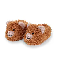 Cuddle Bear® Baby Girls' Brown Bear Slippers