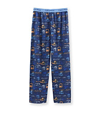 Calvin Klein Boys' 5-16 Blue/Orange Skull Rocker Pajama Pants