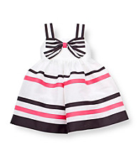Rare Editions® Baby Girls' White Striped Dress
