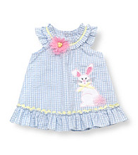 Rare Editions® Baby Girls' Blue Easter Bunny Dress
