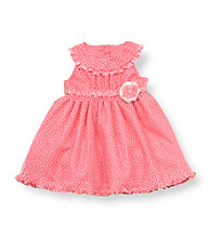 Rare Editions® Baby Girls' Coral Swiss Dot Dress