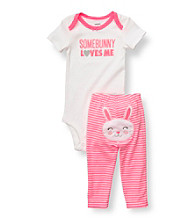 Carter's® Baby Girls' Pink/White 2-pc. Easter Set