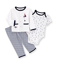 Little Me® Baby Boys' Navy Sail Boat Take-Me-Home Set