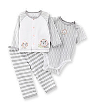 Little Me® Baby Boys' Grey Lion Take-Me-Home Set