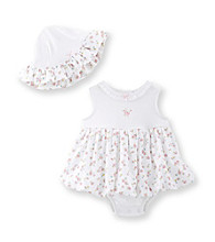 Little Me® Baby Girls' Rose Popover and Hat