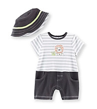 Little Me® Baby Boys' Grey Safari Romper and Hat
