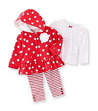 Little Me® Baby Girls' Red/White Polka-Dot Jacket Set