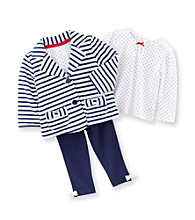 Little Me® Baby Girls' Navy/White Striped Jacket Set