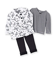 Little Me® Baby Girls' Black/White Butterfly Jacket Set