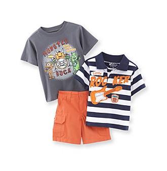 Nannette® Baby Boys' Orange 3-pc. Rocker Set